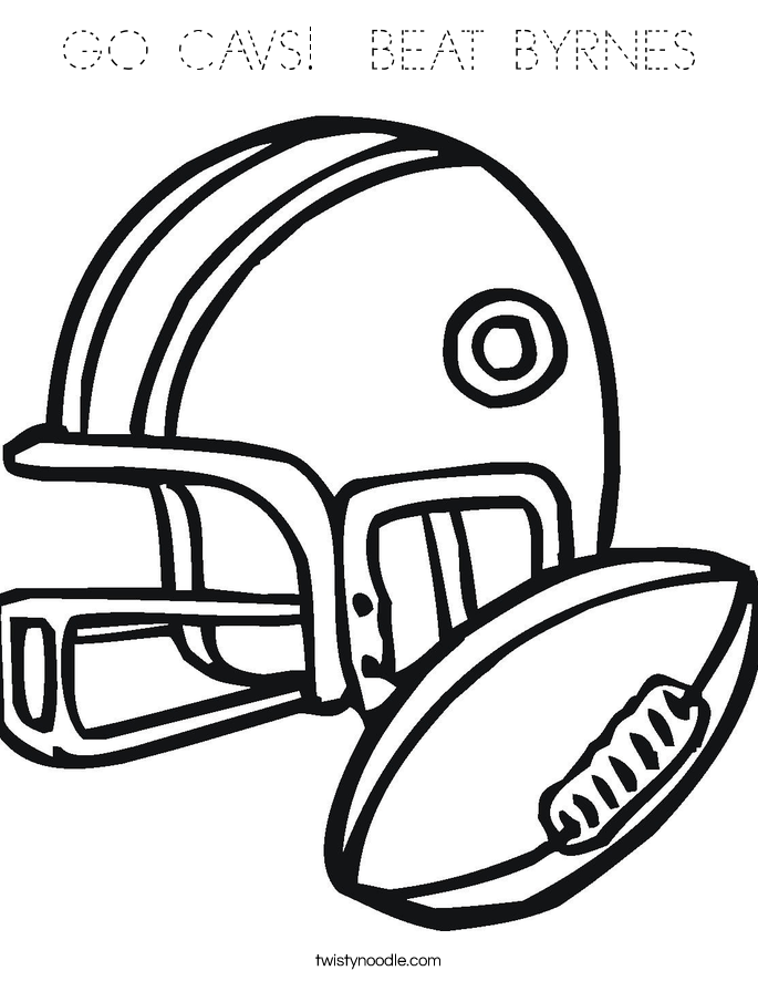 GO CAVS!  BEAT BYRNES Coloring Page