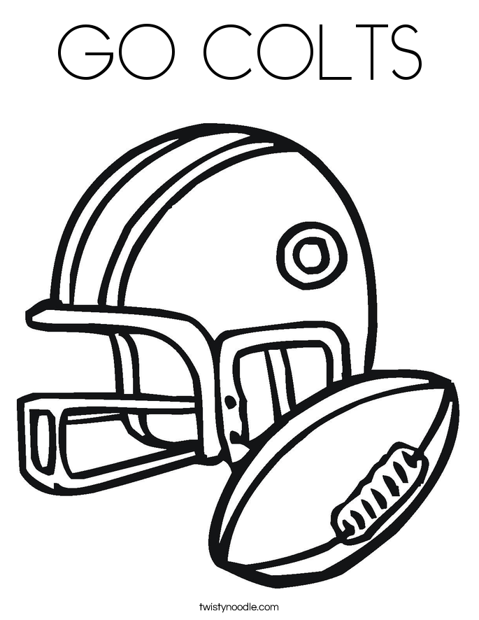 GO COLTS Coloring Page