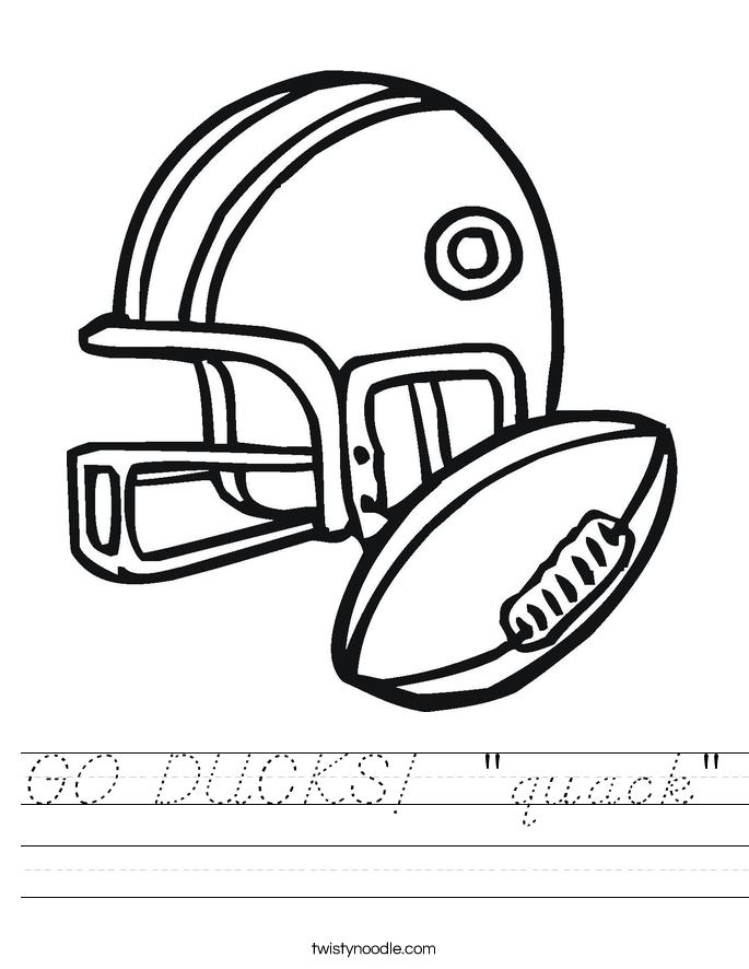 """GO DUCKS!  """"quack"""" Worksheet"""