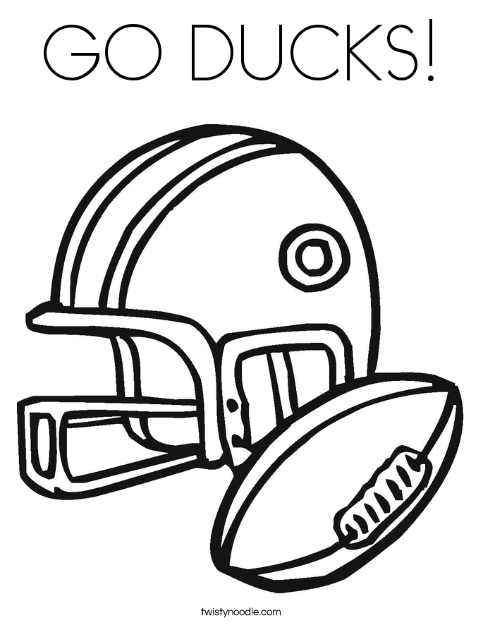 GO DUCKS! Coloring Page