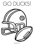 GO DUCKS!Coloring Page