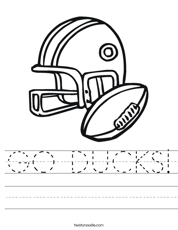 GO DUCKS! Worksheet