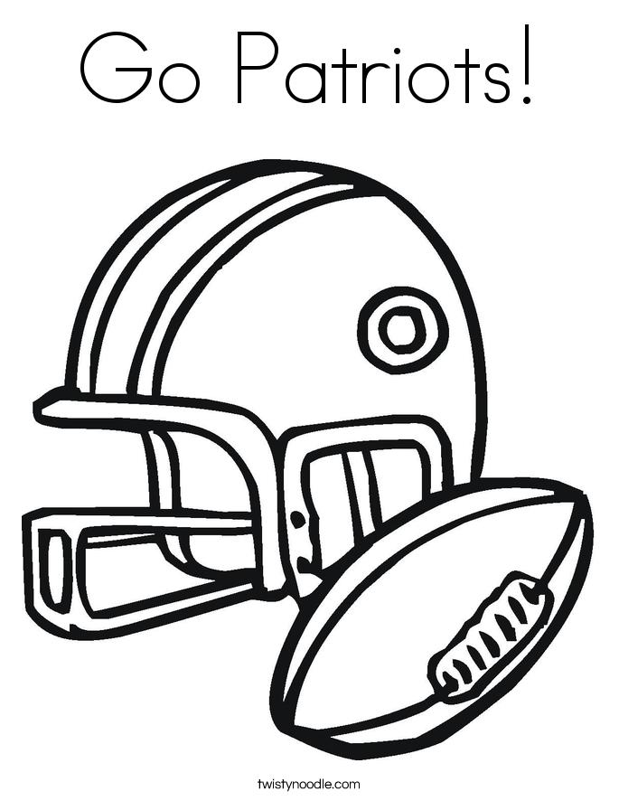 Go Patriots! Coloring Page