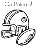 Go Patriots!Coloring Page