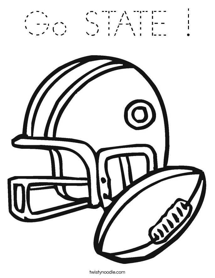 Go STATE ! Coloring Page