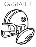 Go STATE !Coloring Page