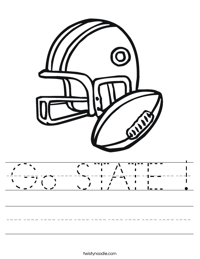 Go STATE ! Worksheet