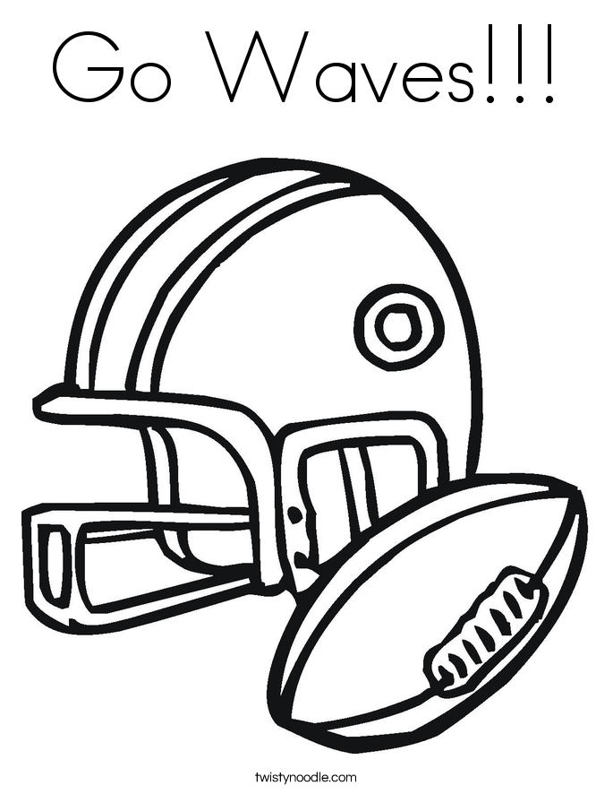 Go Waves!!! Coloring Page