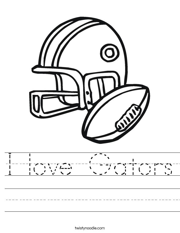 I love Gators Worksheet