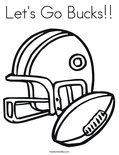 Let's Go Bucks!! Coloring Page