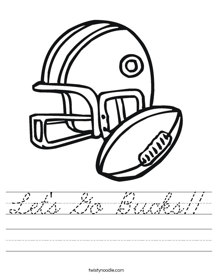 Let's Go Bucks!! Worksheet
