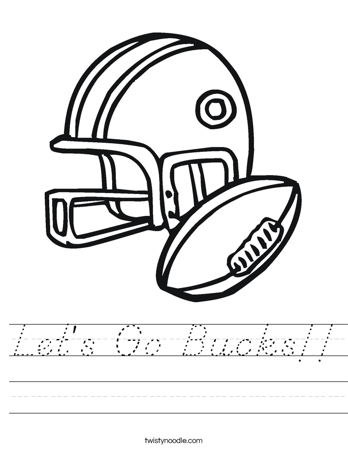 Let's Go Bucks!! Worksheet
