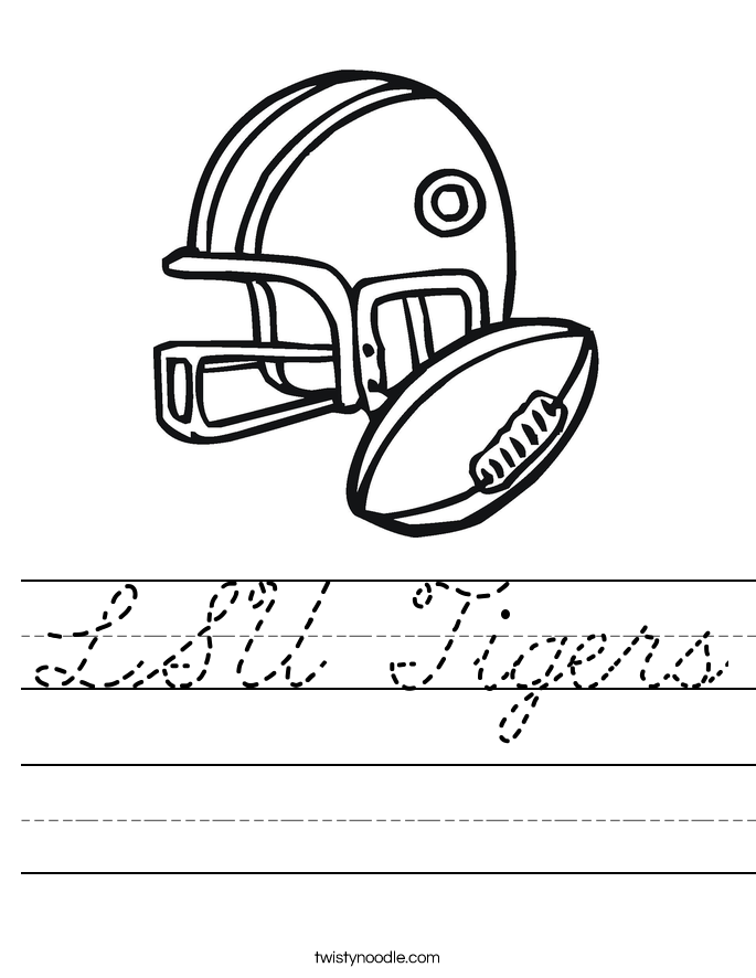 LSU Tigers Worksheet