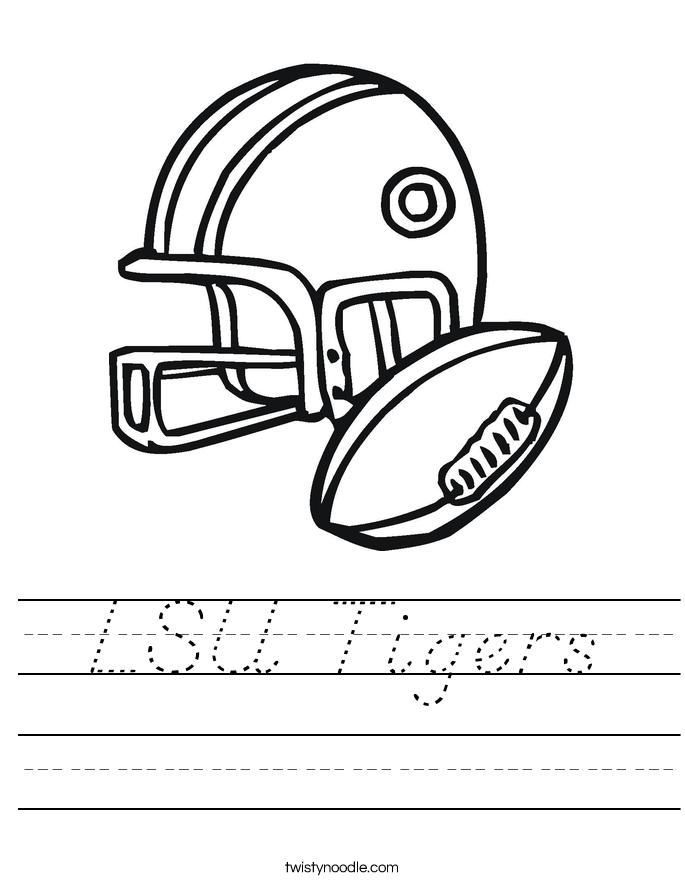 LSU Tigers Worksheet