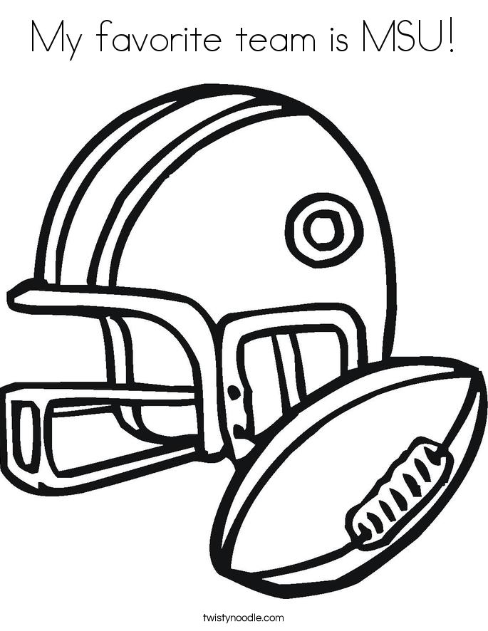 My favorite team is MSU! Coloring Page