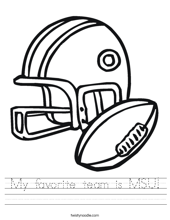 My favorite team is MSU! Worksheet