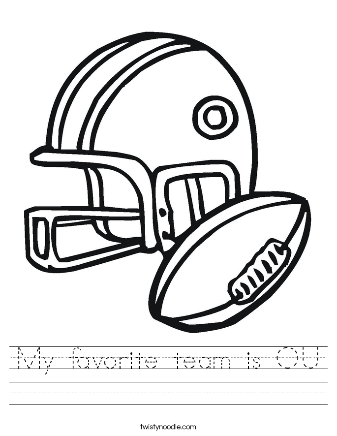 My favorite team is OU Worksheet