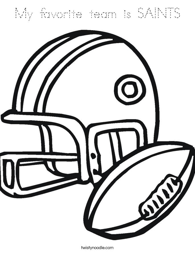 My favorite team is SAINTS Coloring Page