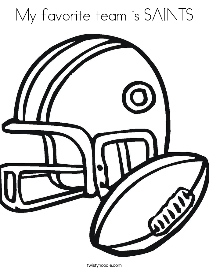 My favorite team is SAINTS Coloring Page
