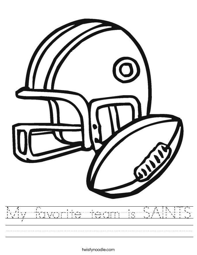My favorite team is SAINTS Worksheet