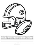 My favorite team is SAINTS Worksheet