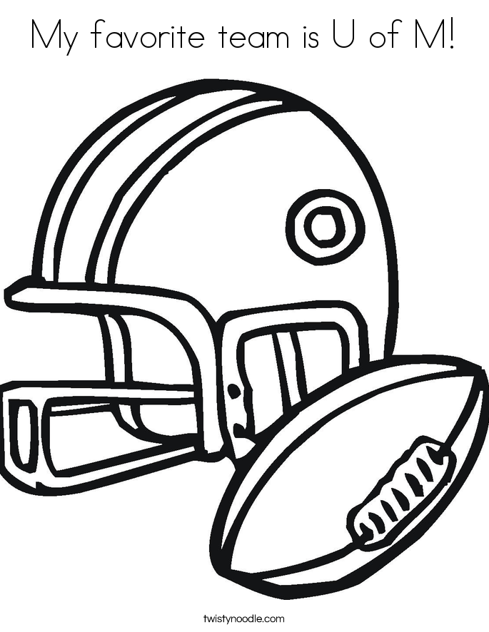 My favorite team is U of M! Coloring Page