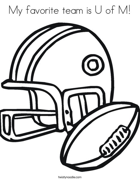 u of m coloring pages - photo #2