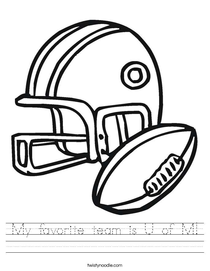 My favorite team is U of M! Worksheet