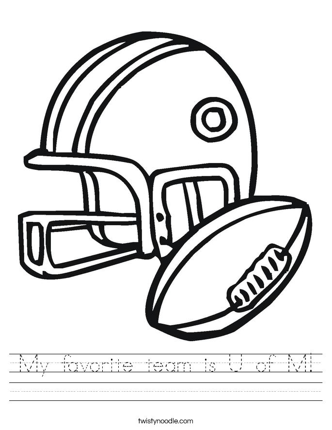 My favorite team is U of M! Worksheet
