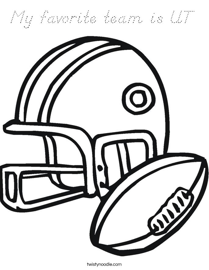My favorite team is UT  Coloring Page