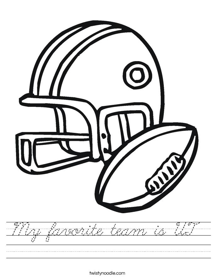 My favorite team is UT  Worksheet