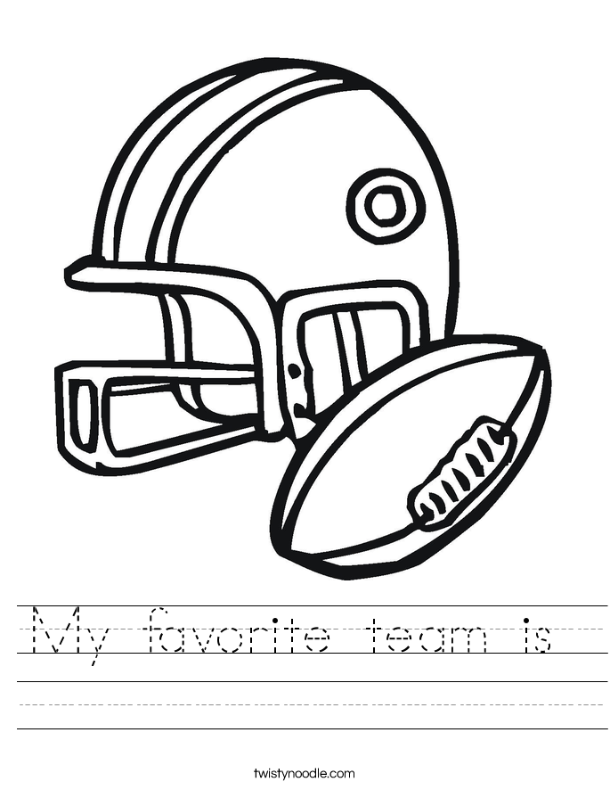 My favorite team is  Worksheet
