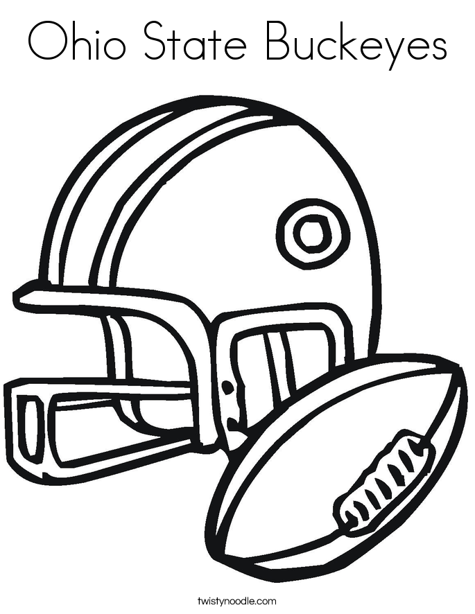 Ohio State Buckeyes Coloring Page