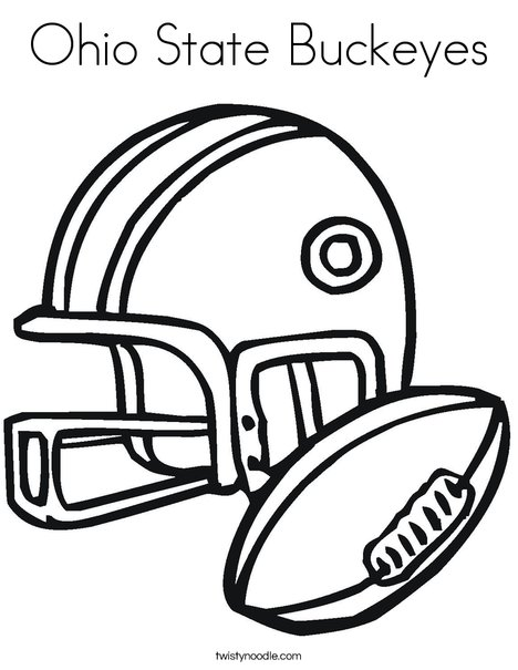 ohio state coloring pages Ohio State Buckeyes Coloring Page   Twisty Noodle ohio state coloring pages