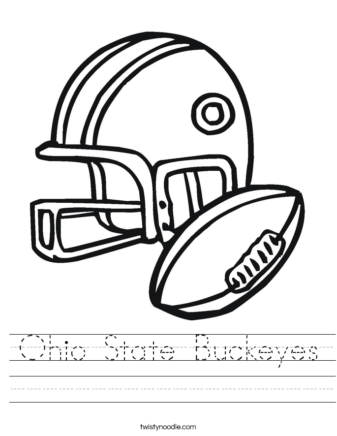 Ohio State Buckeyes Worksheet