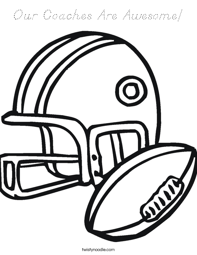 Our Coaches Are Awesome! Coloring Page