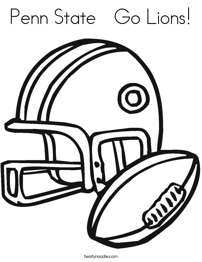 Penn State Go Lions! Coloring Page.
