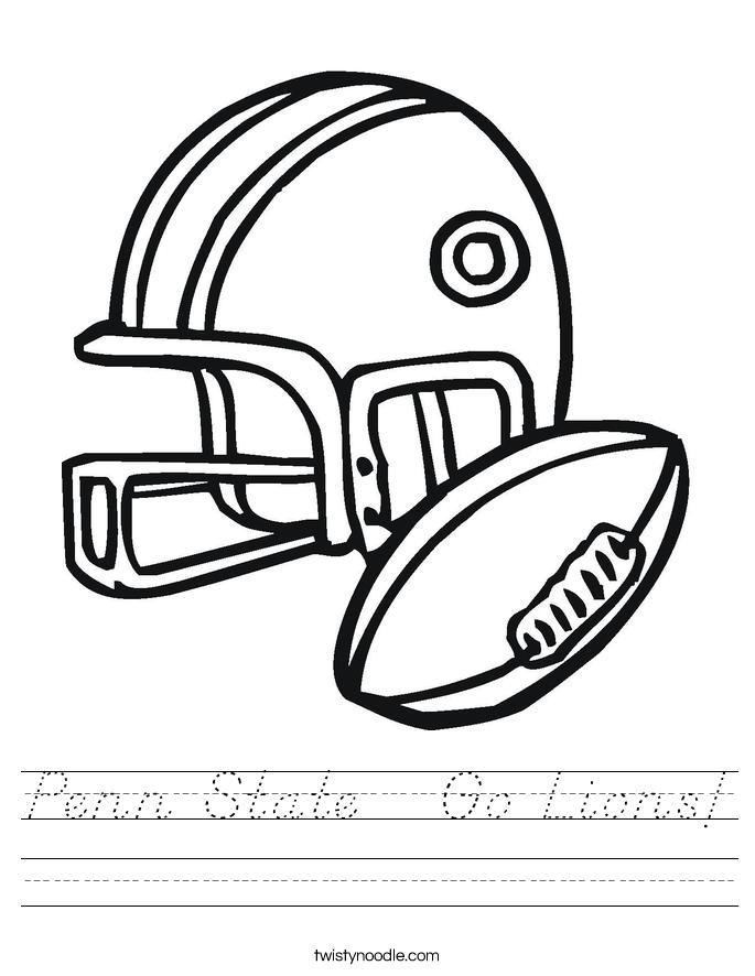 Penn State   Go Lions! Worksheet