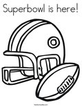 Superbowl is here! Coloring Page