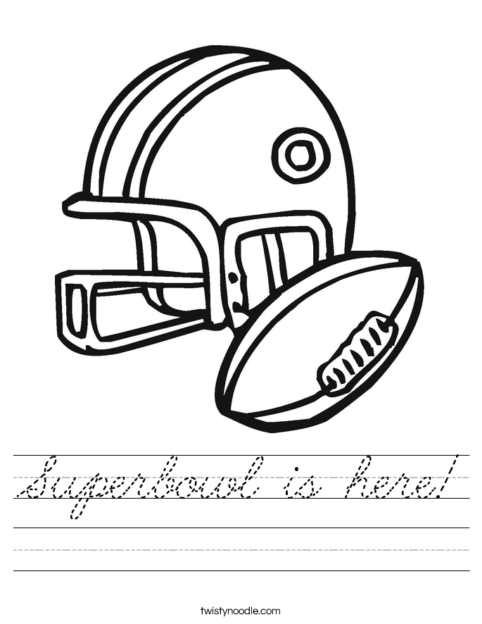 Superbowl is here! Worksheet