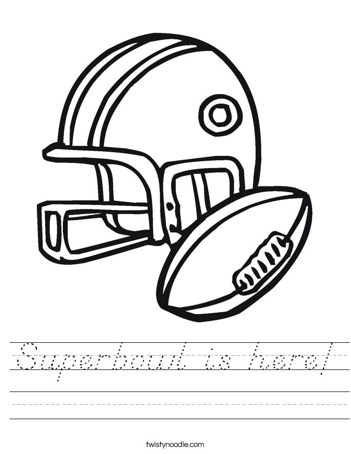 Superbowl is here! Worksheet