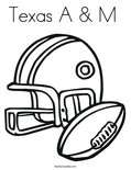 Texas A & M Coloring Page