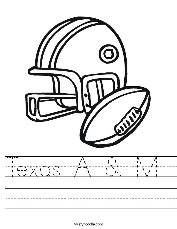 Texas A & M  Worksheet