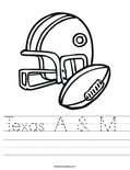 Texas A & M  Worksheet