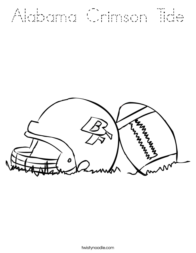 Alabama roll tide coloring pages