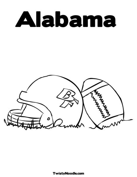 free coloring pages of alabama football