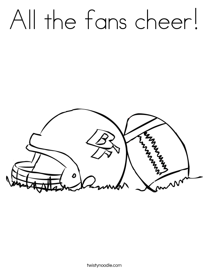 All the fans cheer! Coloring Page