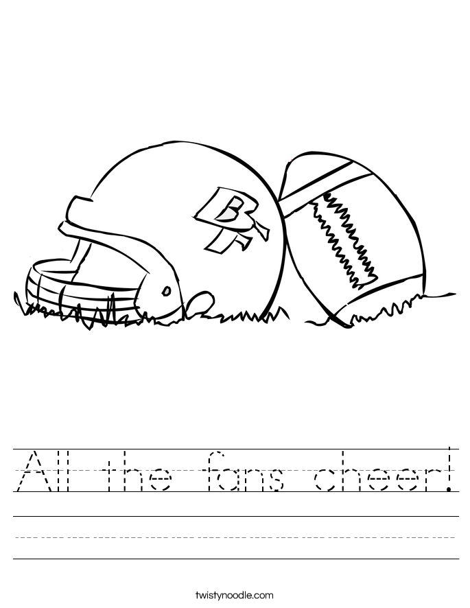 All the fans cheer! Worksheet