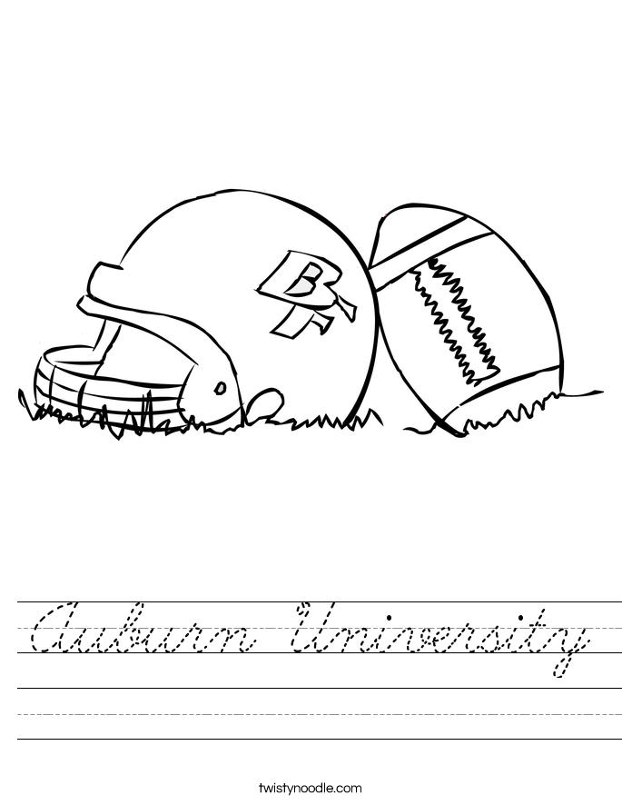 Auburn University Worksheet