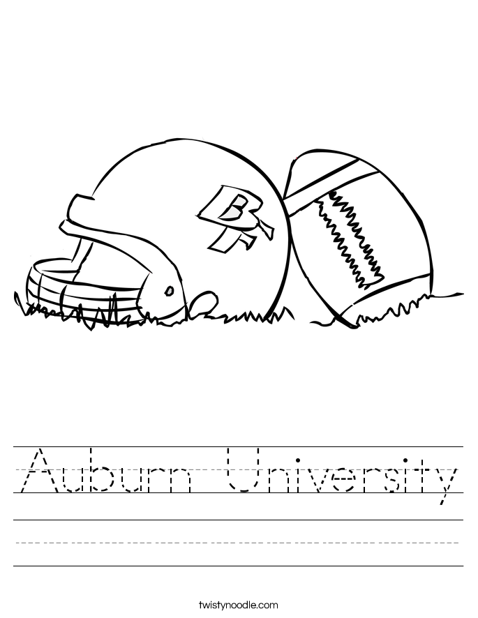 Auburn University Worksheet